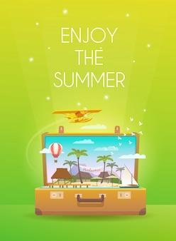 夏を楽しむ。バナー。