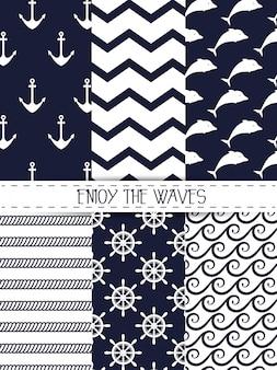 波のシームレスなパターンのグラフィックをお楽しみください