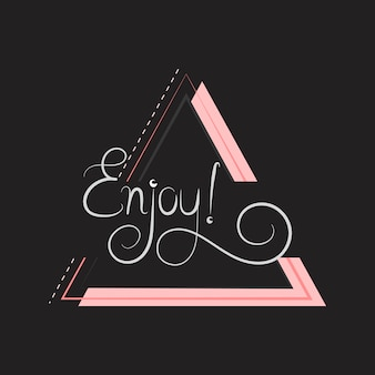 Enjoy typography badge design
