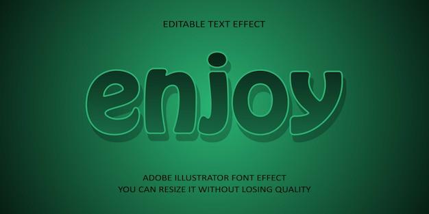 Enjoy vector text font effect