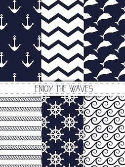 Enjoy the waves seamless pattern graphic