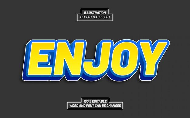Наслаждайтесь желтым и синим эффектом стиля текста