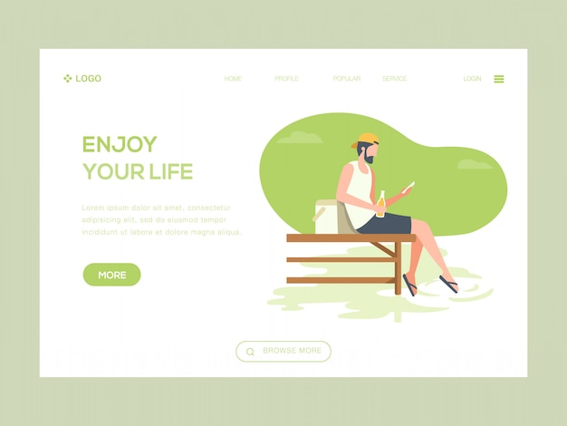 Enjoy your life web illustration