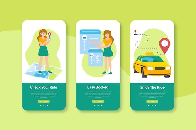 Enjoy your ride mobile interface design