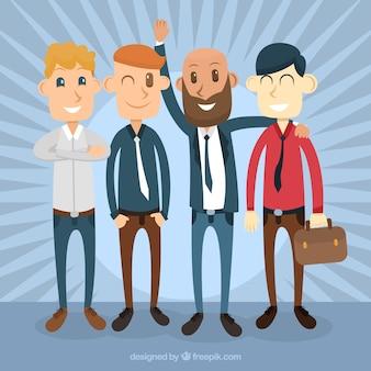 Enjoyable businessmen