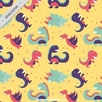 Enjoyable dinosaurs pattern