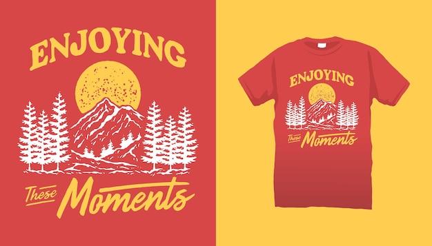 これらの瞬間を楽しむ山のイラスト