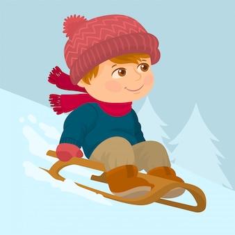 Enjoying winter games