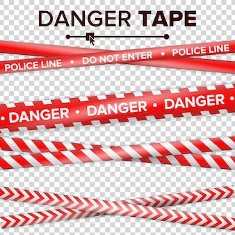 Do not enter, danger. security quarantine red and white tapes.
