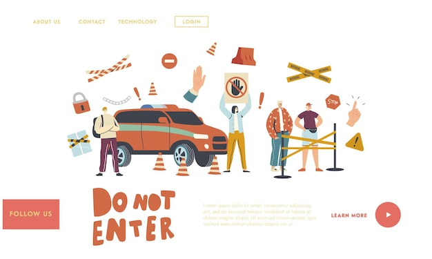 Do not enter landing page template
