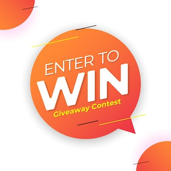 Enter to win giveaway contest banner template