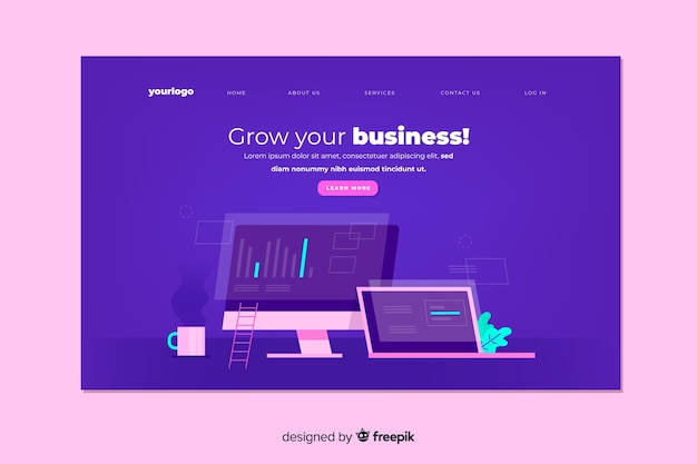 Enterprise grow your business landing page