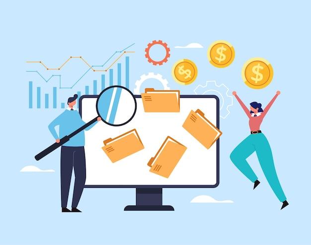 엔터프라이즈 새로운 비즈니스 시작 전략 개발 재무 분석 계획 조직 개념.