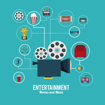 Entertainment icons design