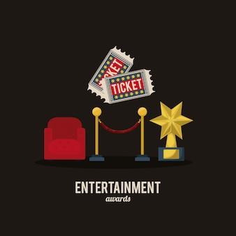 Entertainment icons design