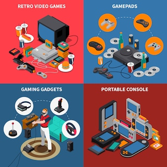 Entertainment isometric concept