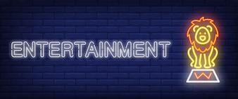 Entertainment neon style banner
