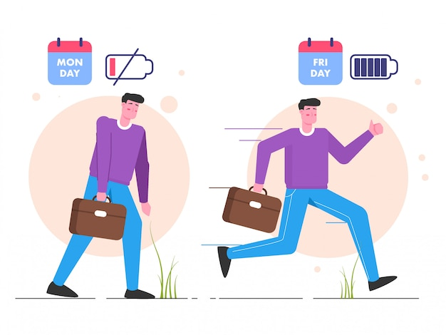 Enthusiasm when working flat illustration