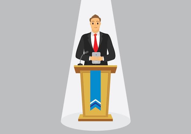 Entrepreneur is presenting