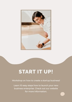 Entrepreneur poster template for small business
