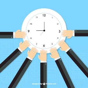Entrepreneurs around the clock Free Vector
