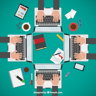 Entrepreneurs in business meeting