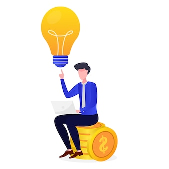 Entrepreneurs get the bright idea of  being rich