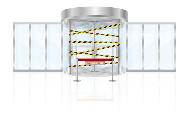 Entry prohibited epidemic coronavirus covid-19