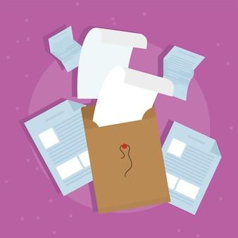 Значок файлов конверта и документов