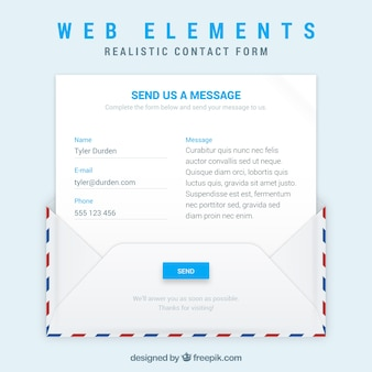 연락처 양식 봉투 및 이메일 템플릿