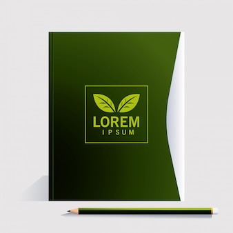 Envelope, corporate identity template on white