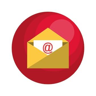 Envelope email with arroba symbol