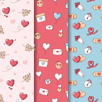 Envelope and love valentine seamless pattern