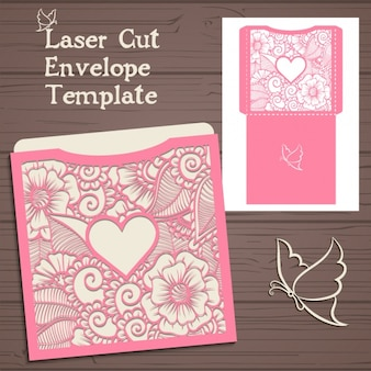 Envelope template design