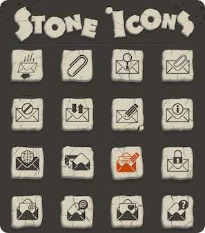 Envelope vector icons for web and user interface design