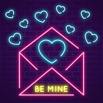 Envelope with little hearts concept
