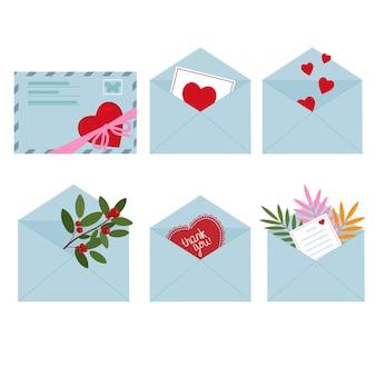 装飾が施された休日の封筒。