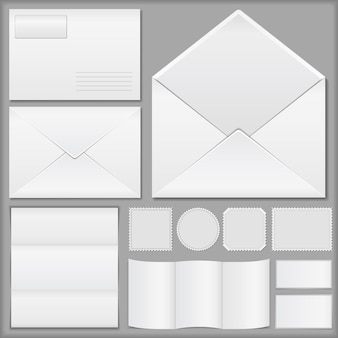 封筒、紙、切手