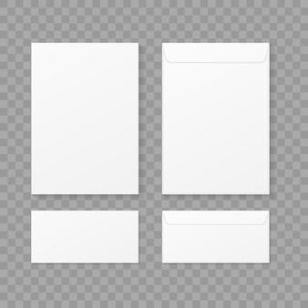 Envelopes set on transparent background