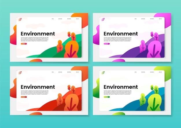 환경과 자연 정보 웹 사이트 그래픽