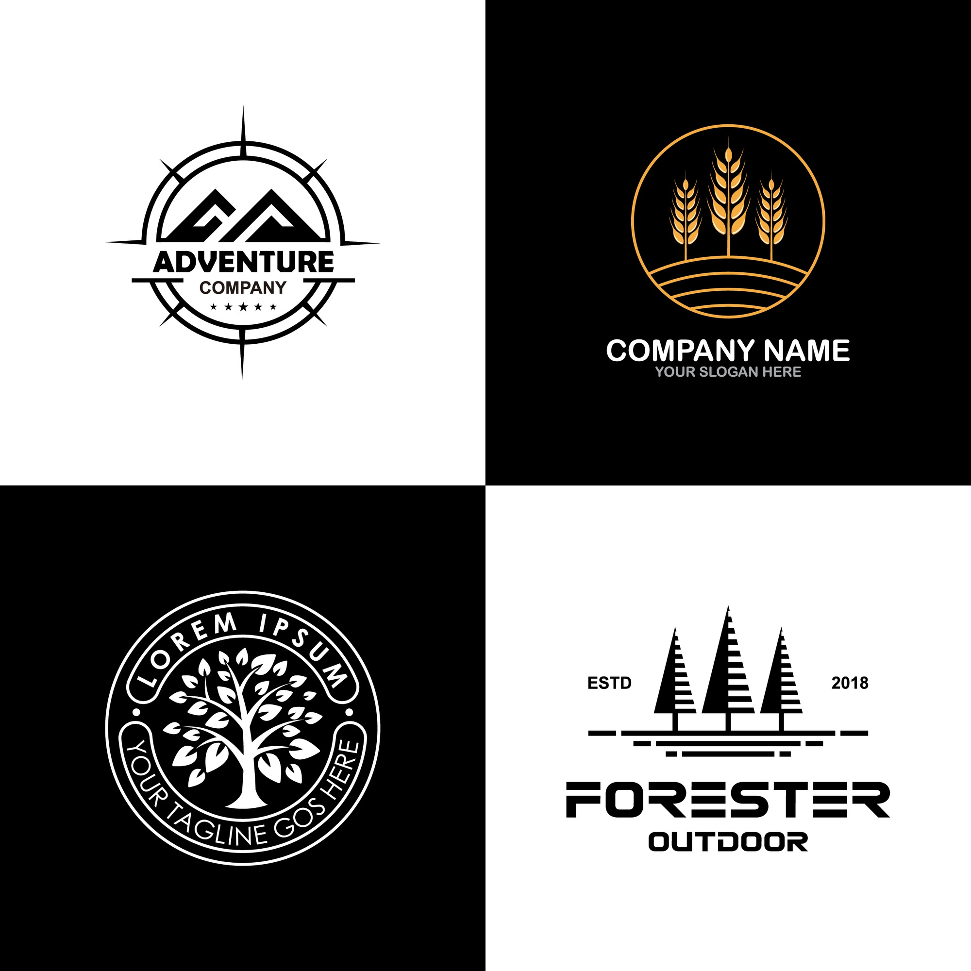 Environment and outdoor logo collection