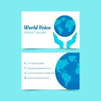 Environment business card pack template