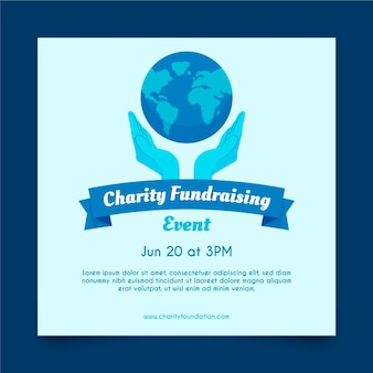 Environment charity square flyer template
