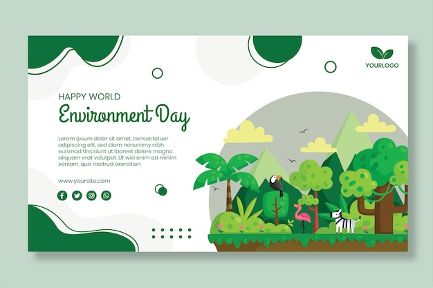 Environment day banner template