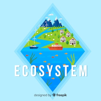 Environment and ecosystem concept