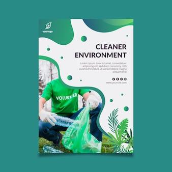 Modello di volantino ambientale