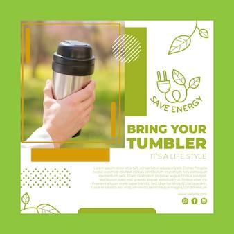 Environment flyer template
