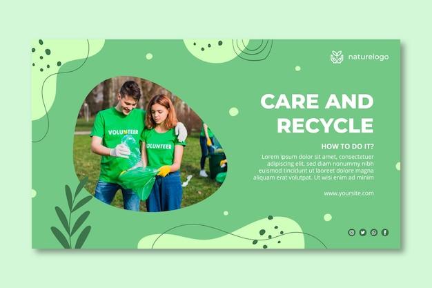 Environment horizontal banner template