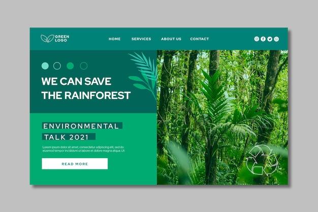 Modello di pagina di destinazione dell'ambiente