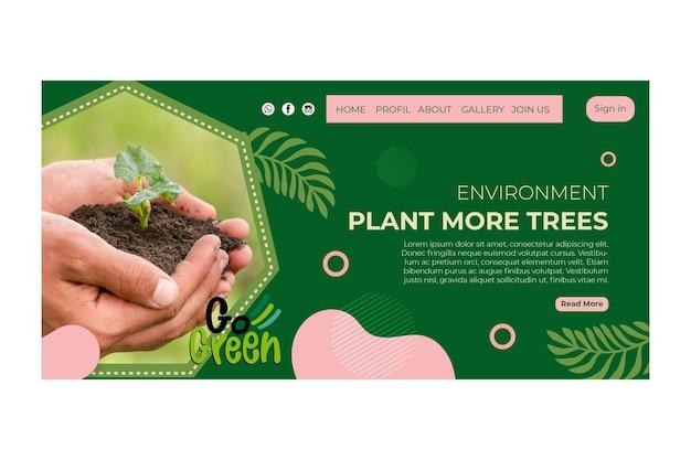 Pagina di destinazione dell'ambiente
